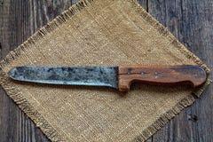 Brennen Sie auf einem alten Messer, es wird gemacht im Jahre 1927 Jahr ein Lizenzfreie Stockfotos