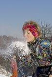 Brennen Sie den Schnee durch Stockfotos