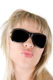 Brennen Sie einen Kuss durch Lizenzfreie Stockbilder