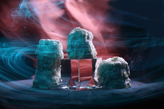 Brennen Sie Kerzen aus Stockfotografie