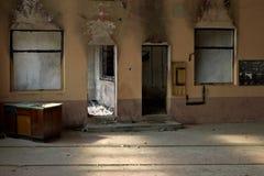 Brennen Sie Raum aus Stockfoto