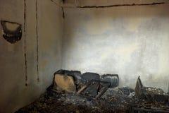 Brennen Sie Raum aus Lizenzfreies Stockfoto