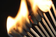Brennende Abgleichungen Lizenzfreies Stockfoto