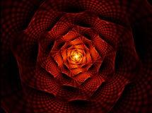 Brennende Blume, die rote Blume der Neigung Stockfotos
