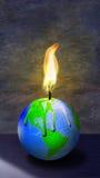 Brennende Erde Stockbild
