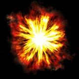 Brennende Explosion Stockfoto