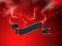 Brennende Fahne vektor abbildung