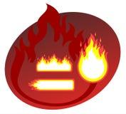 Brennende Felder Lizenzfreie Stockfotografie