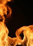 Brennende Feldvertikale Stockfotografie