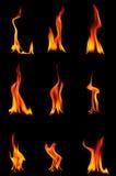 Brennende Flamme stockfoto