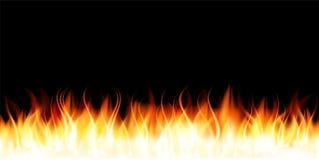 Brennende Flamme des Feuers Lizenzfreie Stockfotografie