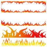 Brennende Flammenmodi des Feuers stockfoto