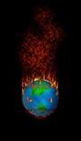 Brennende Fleecy Tennisball Kugel lizenzfreie abbildung