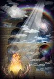 Brennende Gebete stock abbildung
