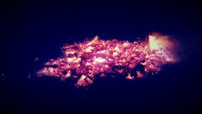 Brennende Glut Stockfotos