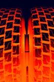 Brennende Gummireifen Stockfoto