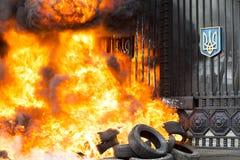 Brennende Gummireifen Lizenzfreie Stockfotografie