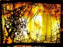 Brennende Hölle - digitale Abbildung Stockbilder