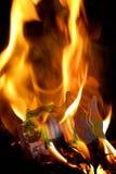 Brennende Kamera Lizenzfreies Stockfoto