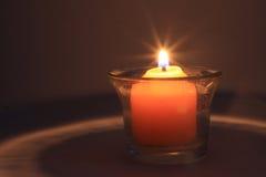 Brennende Kerze 2 Lizenzfreies Stockbild