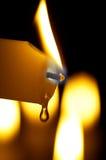 Brennende Kerze lizenzfreie stockfotografie