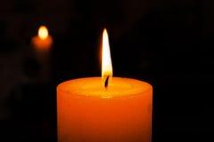 Brennende Kerze Lizenzfreies Stockfoto