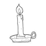 brennende Kerze der Karikatur Stockfotos