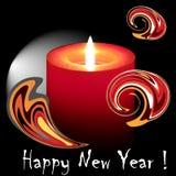 Brennende Kerze des neuen Jahres stock abbildung