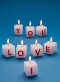 Brennende Kerzen. Stockbilder