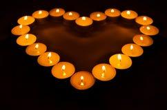 Brennende Kerzen. Stockbild