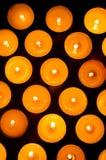 Brennende Kerzen. Lizenzfreies Stockfoto