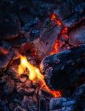 Brennende Kohle Lizenzfreies Stockfoto