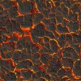 Brennende Lava der Beschaffenheit. Nahtloses Bild Stockfoto