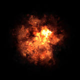 Brennende orange Flamme Stockbild