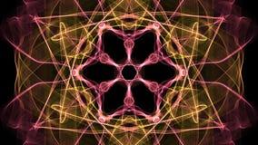 Brennende orange Mandala mit konvergentem Bewegungseffekt für die erreichende Energie, geistiges Training, Konzentration trainier lizenzfreie abbildung