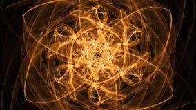 Brennende orange Mandala mit unterschiedlichem Bewegungseffekt für die erreichende Energie, geistiges Training, Konzentration tra lizenzfreie abbildung