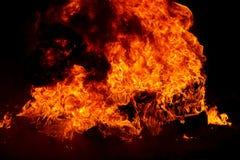 Brennende Reifen Lizenzfreies Stockfoto