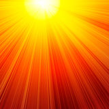 Brennende rote Sonne