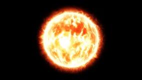 Brennende Sonne mit Aufflackern Stockfotografie