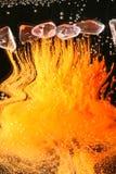 Brennende Streifen Lizenzfreie Stockfotos