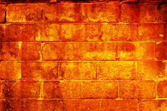 Brennende Wand Stockbild