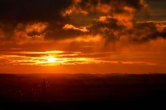 Brennende Wolken stockbilder