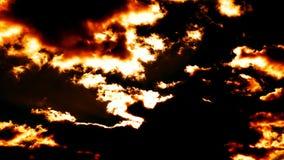 Brennende Wolken sehr viel Zeitspanne stock footage