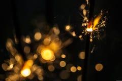 Brennende Wunderkerzen Stockbilder