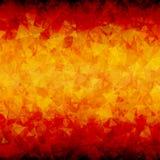 Brennender abstrakter Dreieckhintergrund horizontal Lizenzfreies Stockfoto