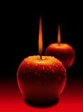 Brennender Apfel Stockfotografie