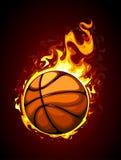 Brennender Basketball Stockfotografie