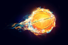 Brennender Basketball Lizenzfreie Stockfotografie