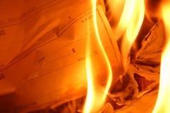 Brennender Check Lizenzfreie Stockfotografie