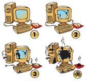 Brennender Computer Lizenzfreie Stockbilder